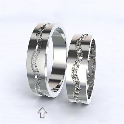 Men's Wedding Band Cannes white gold 14kt