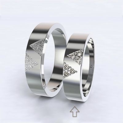 Women's Wedding Band Agapé white gold 14kt with diamonds