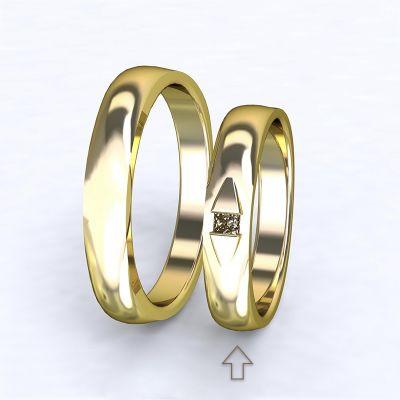 Women's Wedding Band Ancona yellow gold 14kt with diamond