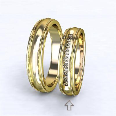 Women's Wedding Band Avignon yellow gold 14kt with diamonds | 45, 46, 47, 48, 49, 50, 51, 52, 53, 54, 55, 56, 57, 58, 59, 60, 61, 62, 63, 64, 65, 66, 67, 68, 69, 70, 71, 72, 73
