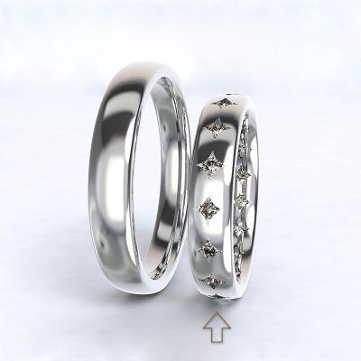 Women's Wedding Band Cherish white gold 14kt with diamonds | 45, 46, 47, 48, 49, 50, 51, 52, 53, 54, 55, 56, 57, 58, 59, 60, 61, 62, 63, 64, 65, 66, 67, 68, 69, 70, 71, 72, 73
