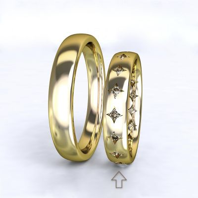 Women's Wedding Band Cherish yellow gold 14kt with diamonds | 45, 46, 47, 48, 49, 50, 51, 52, 53, 54, 55, 56, 57, 58, 59, 60, 61, 62, 63, 64, 65, 66, 67, 68, 69, 70, 71, 72, 73