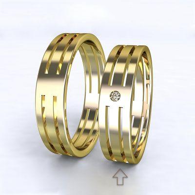 Women's Wedding Band Elegance bílé gold 14kt with diamond | 45, 46, 47, 48, 49, 50, 51, 52, 53, 54, 55, 56, 57, 58, 59, 60, 61, 62, 63, 64, 65, 66, 67, 68, 69, 70, 71, 72, 73