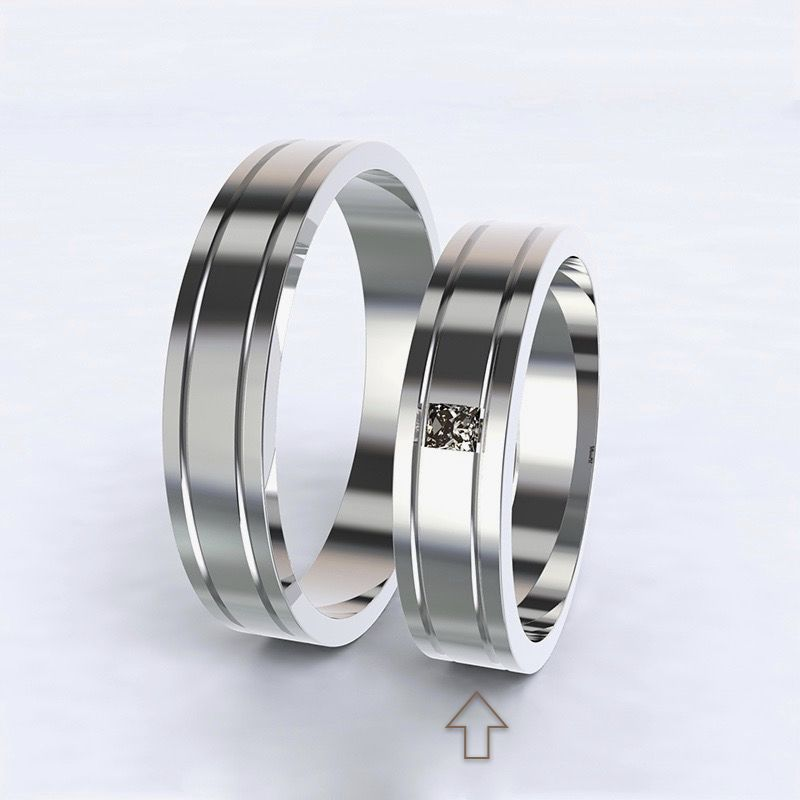 Women's Wedding Band Essential white gold 14kt with diamond
