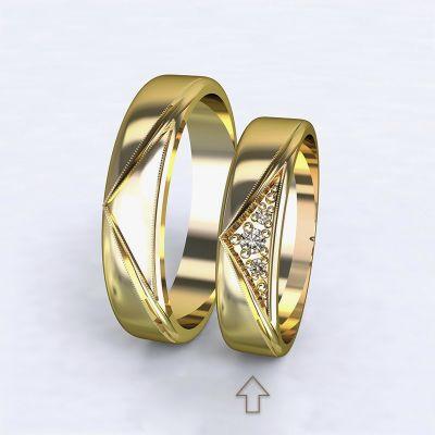 kopie Women's Wedding Band Fantasia yellow gold 14kt with diamonds | 45, 46, 47, 48, 49, 50, 51, 52, 53, 54, 55, 56, 57, 58, 59, 60, 61, 62, 63, 64, 65, 66, 67, 68, 69, 70, 71, 72, 73