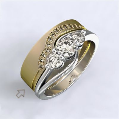 Women's Wedding Band Florencie yellow gold 14kt with diamonds   45, 46, 47, 48, 49, 50, 51, 52, 53, 54, 55, 56, 57, 58, 59, 60, 61, 62, 63, 64, 65, 66, 67, 68, 69, 70, 71, 72, 73