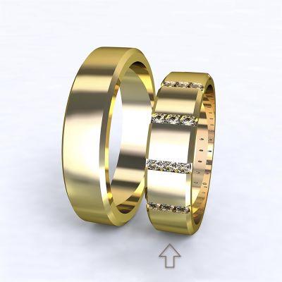 Women's Wedding Band Legend yellow gold 14kt with diamonds | 45, 46, 47, 48, 49, 50, 51, 52, 53, 54, 55, 56, 57, 58, 59, 60, 61, 62, 63, 64, 65, 66, 67, 68, 69, 70, 71, 72, 73