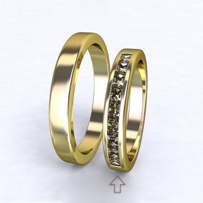 Women's Wedding Band Nazareth yellow gold 14kt with diamonds   45, 46, 47, 48, 49, 50, 51, 52, 53, 54, 55, 56, 57, 58, 59, 60, 61, 62, 63, 64, 65, 66, 67, 68, 69, 70, 71, 72, 73