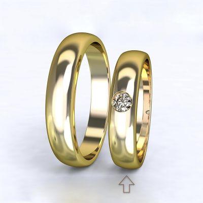 Women's Wedding Band Polibek yellow gold 14kt with diamond   45, 46, 47, 48, 49, 50, 51, 52, 53, 54, 55, 56, 57, 58, 59, 60, 61, 62, 63, 64, 65, 66, 67, 68, 69, 70, 71, 72, 73