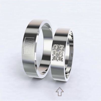 Women's Wedding Band Purity white gold 14kt with diamonds   45, 46, 47, 48, 49, 50, 51, 52, 53, 54, 55, 56, 57, 58, 59, 60, 61, 62, 63, 64, 65, 66, 67, 68, 69, 70, 71, 72, 73