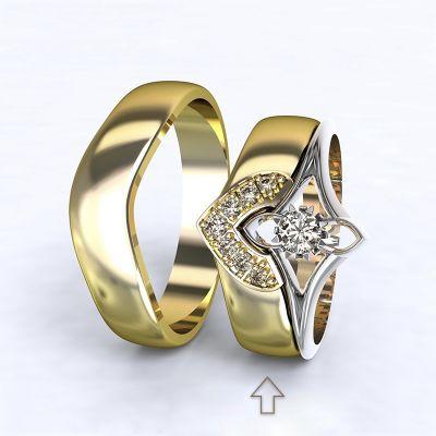 Women's Wedding Band Roma yellow gold 14kt with diamonds | 45, 46, 47, 48, 49, 50, 51, 52, 53, 54, 55, 56, 57, 58, 59, 60, 61, 62, 63, 64, 65, 66, 67, 68, 69, 70, 71, 72, 73