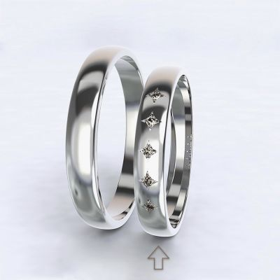 Women's Wedding Band Special Moment white gold 14kt with diamonds   45, 46, 47, 48, 49, 50, 51, 52, 53, 54, 55, 56, 57, 58, 59, 60, 61, 62, 63, 64, 65, 66, 67, 68, 69, 70, 71, 72, 73
