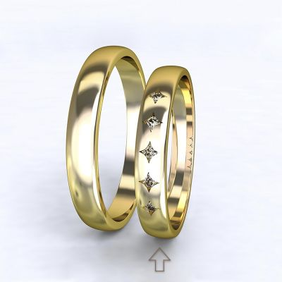 Women's Wedding Band Special Moment yellow gold 14kt with diamonds   45, 46, 47, 48, 49, 50, 51, 52, 53, 54, 55, 56, 57, 58, 59, 60, 61, 62, 63, 64, 65, 66, 67, 68, 69, 70, 71, 72, 73