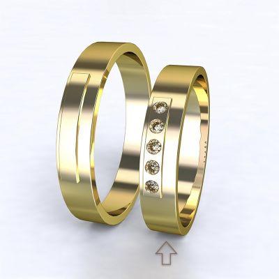 Women's Wedding Band Terni yellow gold 14kt with diamonds | 45, 46, 47, 48, 49, 50, 51, 52, 53, 54, 55, 56, 57, 58, 59, 60, 61, 62, 63, 64, 65, 66, 67, 68, 69, 70, 71, 72, 73