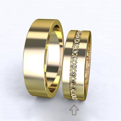 Women's Wedding Band The Four Seasons yellow gold 14kt with diamonds   45, 46, 47, 48, 49, 50, 51, 52, 53, 54, 55, 56, 57, 58, 59, 60, 61, 62, 63, 64, 65, 66, 67, 68, 69, 70, 71, 72, 73