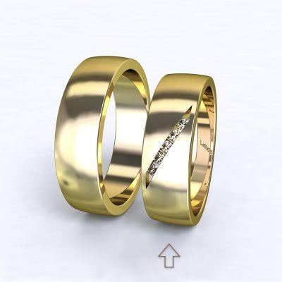 Women's Wedding Band Trento yellow gold 14kt with diamonds   45, 46, 47, 48, 49, 50, 51, 52, 53, 54, 55, 56, 57, 58, 59, 60, 61, 62, 63, 64, 65, 66, 67, 68, 69, 70, 71, 72, 73