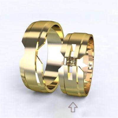 Women's Wedding Band Venezia yellow gold 14kt with diamond | 45, 46, 47, 48, 49, 50, 51, 52, 53, 54, 55, 56, 57, 58, 59, 60, 61, 62, 63, 64, 65, 66, 67, 68, 69, 70, 71, 72, 73