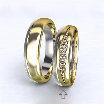 Women's Wedding Band Versailles white/yellow gold 14kt with diamonds | 45, 46, 47, 48, 49, 50, 51, 52, 53, 54, 55, 56, 57, 58, 59, 60, 61, 62, 63, 64, 65, 66, 67, 68, 69, 70, 71, 72, 73