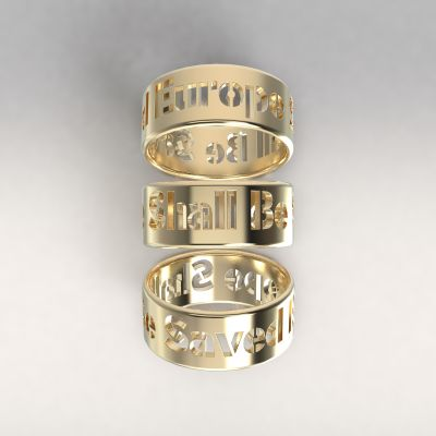 Europe Shall Be Saved AU585/1000 yellow gold (14kt)