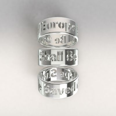 Europe Shall Be Saved AU585/1000 white gold (14kt)