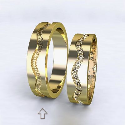 Men's Wedding Band Cannes yellow gold 14kt