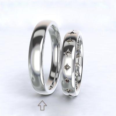 Men's Wedding Band Cherish white gold 14kt | 45, 46, 47, 48, 49, 50, 51, 52, 53, 54, 55, 56, 57, 58, 59, 60, 61, 62, 63, 64, 65, 66, 67, 68, 69, 70, 71, 72, 73