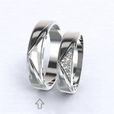 Men's Wedding Band Fantasia white gold 14kt