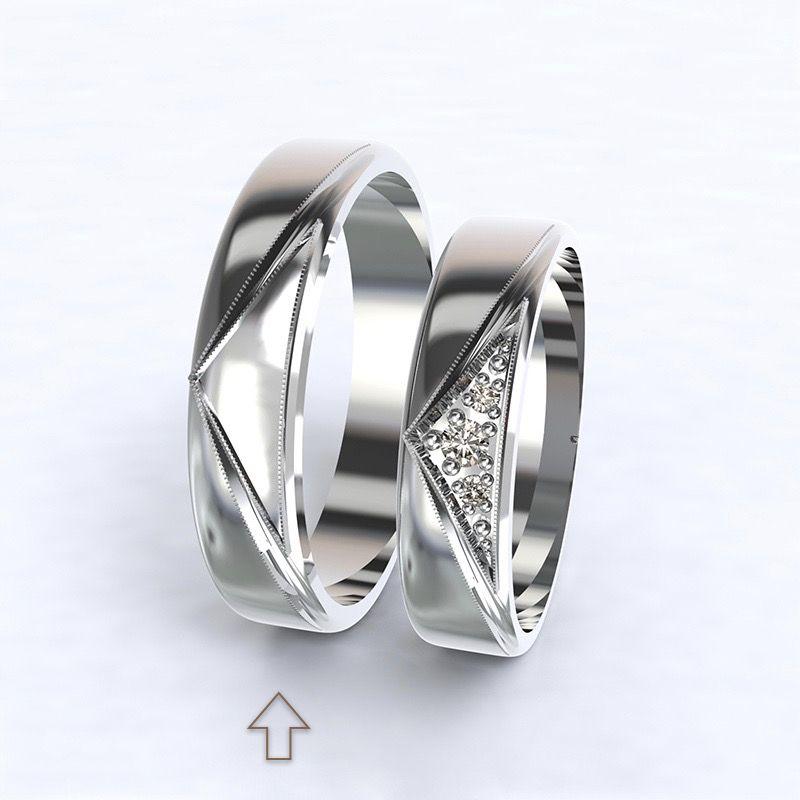 Men's Wedding Band Fantasia white gold 14kt