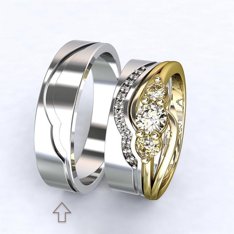 Men's Wedding Band Florencie white gold 14kt