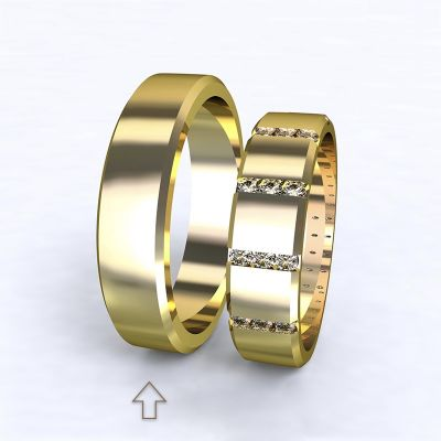 Men's Wedding Band Legend yellow gold 14kt | 45, 46, 47, 48, 49, 50, 51, 52, 53, 54, 55, 56, 57, 58, 59, 60, 61, 62, 63, 64, 65, 66, 67, 68, 69, 70, 71, 72, 73