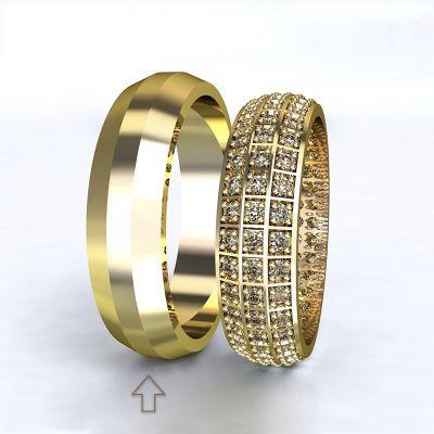 Men's Wedding Band Paris yellow gold 14kt