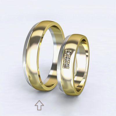 Men's Wedding Band Rhôna white/yellow gold 14kt   45, 46, 47, 48, 49, 50, 51, 52, 53, 54, 55, 56, 57, 58, 59, 60, 61, 62, 63, 64, 65, 66, 67, 68, 69, 70, 71, 72, 73