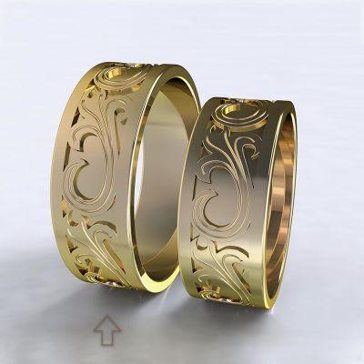 Men's Wedding Band Romeo & Julie yellow gold 14kt   45, 46, 47, 48, 49, 50, 51, 52, 53, 54, 55, 56, 57, 58, 59, 60, 61, 62, 63, 64, 65, 66, 67, 68, 69, 70, 71, 72, 73
