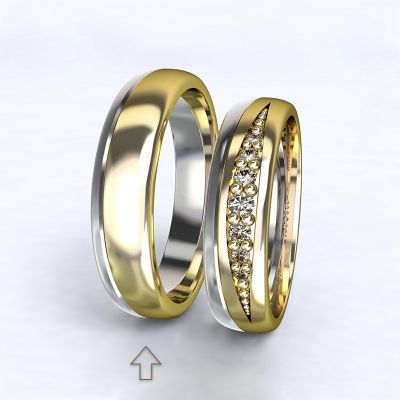 Men's Wedding Band Versailles white/yellow gold 14kt   45, 46, 47, 48, 49, 50, 51, 52, 53, 54, 55, 56, 57, 58, 59, 60, 61, 62, 63, 64, 65, 66, 67, 68, 69, 70, 71, 72, 73