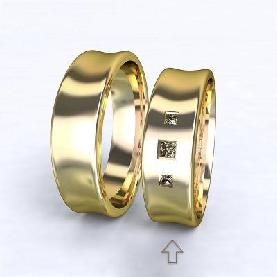 Women's Wedding Band Dijon yellow gold 14kt with diamonds   45, 46, 47, 48, 49, 50, 51, 52, 53, 54, 55, 56, 57, 58, 59, 60, 61, 62, 63, 64, 65, 66, 67, 68, 69, 70, 71, 72, 73