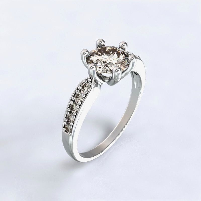 Ring Dorkas white gold 14kt with diamonds