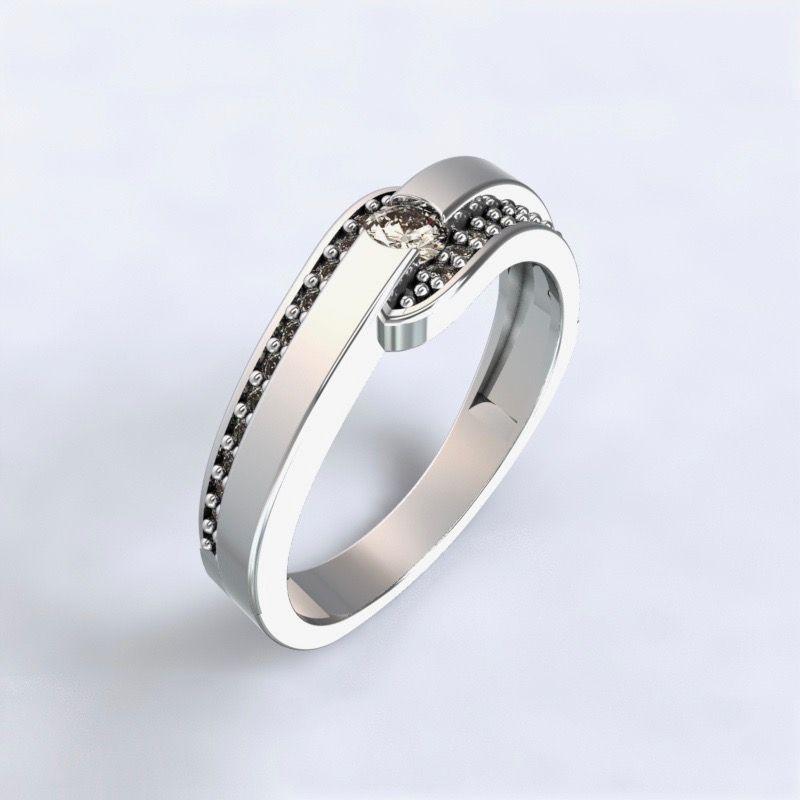 Ring Erika - white gold 14kt with diamonds