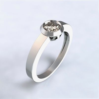 Ring Larisa white gold 14kt with diamond