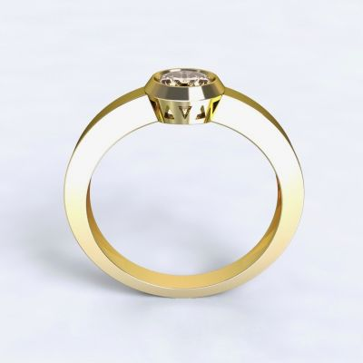 Ring Larisa yellow gold 14kt with diamond
