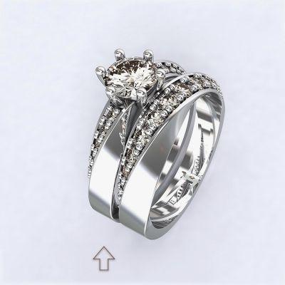 Ring Moon Light-e - white gold with diamonds14kt