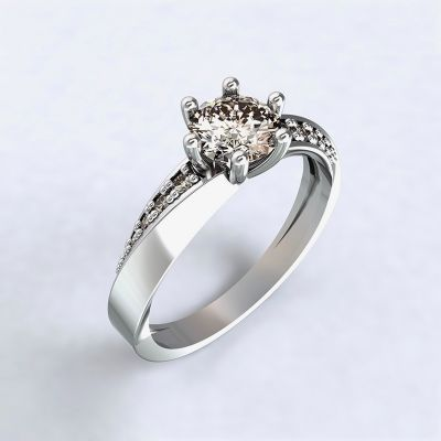 Ring Moon Light-e - white gold with diamonds14kt