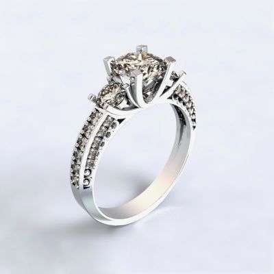 Ring Nikea - white gold 14kt with diamonds