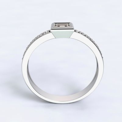 Engagement ring Perama - white gold 14kt with diamonds