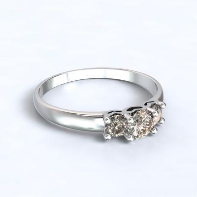 Ring Salamina white gold 14kt with diamonds