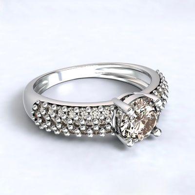 Ring Trikala - white gold 14kt with diamonds