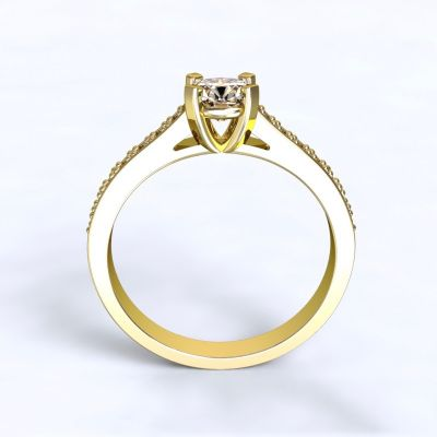 Ring Veria - yellow gold 14kt with diamonds