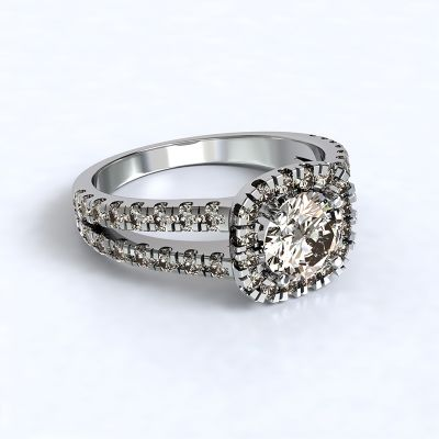 Ring Zara - white gold 14kt with diamonds