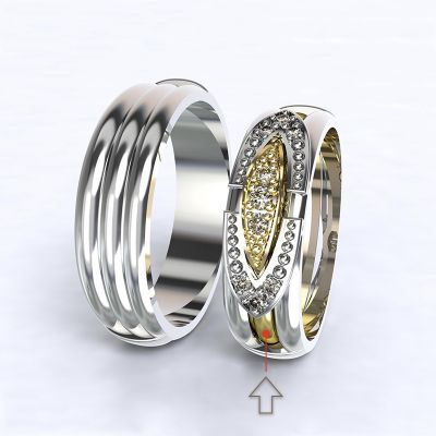 Engagement Ring Bonnie & Clyde yellow gold 14kt with diamonds | 45, 46, 47, 48, 49, 50, 51, 52, 53, 54, 55, 56, 57, 58, 59, 60, 61, 62, 63, 64, 65, 66, 67, 68, 69, 70, 71, 72, 73