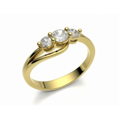 Engagement ring Florencie yellow gold 14kt with diamonds   45, 46, 47, 48, 49, 50, 51, 52, 53, 54, 55, 56, 57, 58, 59, 60, 61, 62, 63, 64, 65, 66, 67, 68, 69, 70, 71, 72, 73